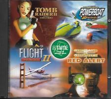 TOMB RAIDER II, volo potere illimitato II, Barca da corsa, ALLARME ROSSO-PC CD-ROM