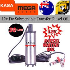 Transfer Diesel Oil Solar Pump Battery 44 Gallon Drum Pump Submersible 12v Dc
