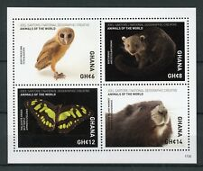 Ghana 2017 MNH Wild Animals of World Marmot 4v M/S Butterflies Birds Owls Stamps