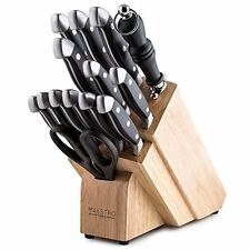 Cutlery German High Carbon Stainless Steel Knife Block Stand Set Kitchen Cutlery
