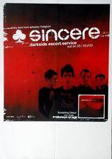 SINCERE - 2003 - Tourplakat - Darkside Escort Service - Concert