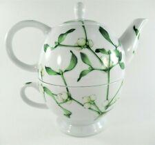 3 Pc Teapot and Cup Set By EMILIO BERGAMIN Italy TAITU Baci Porcelain Vintage
