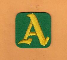 VINTAGE 1970s OAKLAND A's 2 inch UNIFORM HAT CAP STITCHED PATCH Unsold Stock