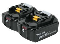 Genuine Makita BL1840B-2 18V 72Wh Lithium Ion Packs w LED Fuel Gauge.