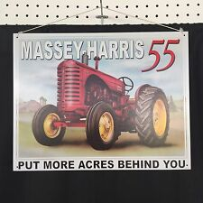 Lot of 3 John Deere Massey Harris Tractor Metal Signs Farm Garage Shop Decor
