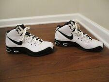 Classic 2008 Used Worn Size 10 Nike Shox Elite Shoes White Black Silver