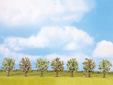NOCH|25092|H0,TT,N,Z | Obstbäume, blühend, 7 Stück, ca. 8cm hoch Modellbäume
