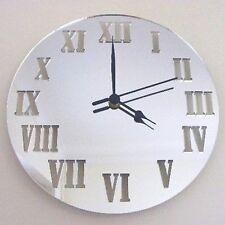 Round Roman Numerals Mirrored Clock