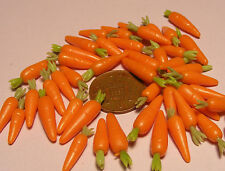 1:12 Scale 10 Carrots Dolls House Miniature Vegetable Kitchen Garden Accessory G