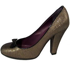 Marc by Marc Jacobs bronze taffeta heels 39.5 9.5 shoes pumps Italy NEW $290