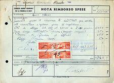 PUBBLICITA' WERBUNG * CONSORZIO AGRARIO PROV.CHIETI 1945 : NOTA RIMBORSO SPESE *