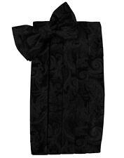 BLACK PAISLEY PRINT bowtie and cummerbund set  BRAND  NEW