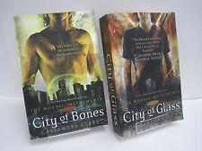 City of Bones & City of Glass by Cassandra Clare, Book 1 & 3