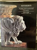 Sotheby's English And Continental Ceramics NEW YORK Auction Catalog 1995