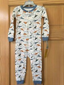 New Carter's 1-Piece Dinosaur Snug Fit Cotton Footless Pajama PJs Boy Sleeper