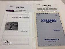 Lot of 4 Marimba Solos 2 & 4 Mallet Intermediate Festival Percussion Pieces