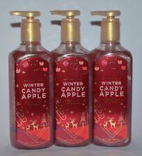3 BATH & BODY WORKS WINTER CANDY APPLE CREAMY LUXE HAND SOAP WASH SILK 8 OZ RED