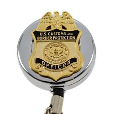 CBP Badge Reel Retractable Security ID PIV Card Holder Customs Field Operations
