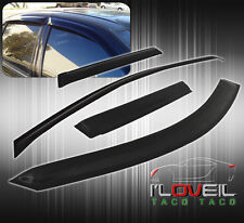 2004-2006 CHEVY COLORADO GMC CANYON 4DR IN CHANNEL BLACK RAIN GUARD WINDOW VISOR