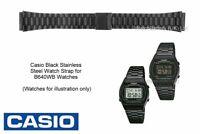 Genuine Casio Watch Strap Band for B-640WB B640WB Watch - Black Stainless Steel