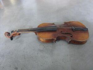 sehr kleine Geige, alte Violine, vor 1900, Korpus ca. 30cm, zum Herrichten
