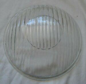 "Vintage motorcycle 8"" domed fluted headlamp headlight glass Sunbeam S7 etc"