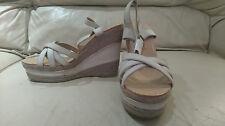 Ladies beige & cream platform, wedge sandals by Sherbert - new - size 6