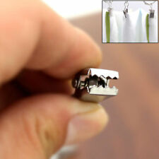 20x Stainless Steel Mini Curtain Clips Clamps Pegs Clothes Hanging Hook Rings