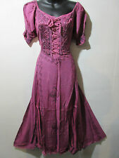 Christmas Dress Fits 1X 2X  Plus Pink Corset Lace Up Chest Empire Waist NWT G100