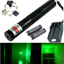 10 Miles Green 1mW 532nm Laser Pointer Pen Lazer Light Burning Zoom + 2x Battery