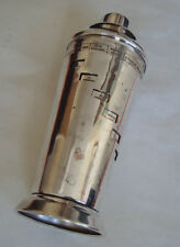 German Art Deco Silver Plated Cocktail Recipe Shaker Dial a Drink Damaged 1930s