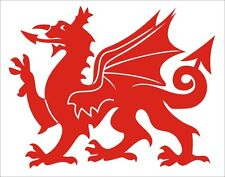 Welsh Dragon vinyl sticker graphics car van lorry decal rugby football wales