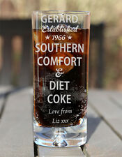 Engraved Boxed Southern Comfort & Diet Coke Glass Birthday Xmas Gift Est. Star