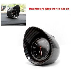 Carbon Fiber Car SUV Interior Dashboard Clock Auto Luminous Backlight Universal