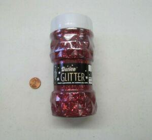 BRAND NEW DARICE FINE RED GLITTER 8 oz JAR BOTTLE Arts Crafts Projects