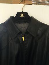 Men's Jacket Zilli Calves Skin Leather Black Size 42-3 European 54