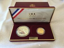 1988 Olympics 2 Coin Uncirculated Set ($5 Gold & Silver Dollar) US Mint