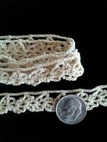 Antique Dainty Crochet Lace Trim Dolls Vintage Sewing Crafts Collage Projects
