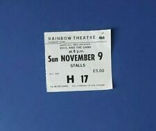 Kool and the Gang (1981) Concert Ticket at the Rainbow Theatre.