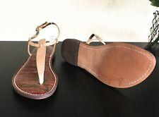 $70 SAM EDELMAN GIGI Tan Leather Thong Sandal in Almond Size 7.5