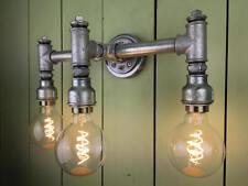 SteamPunk Triple Wall Light, Bespoke, Retro, Vintage, Industrial Pipe Fitting