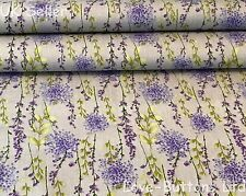 GORGEOUS ROSE & HUBBLE GREY FREESIA FLORAL FABRIC 100% COTTON FAT QUARTERS