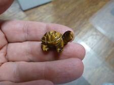 Y-TUR-LA-512) Tigereye TURTLE tortoise carving FIGURINE gemstone baby turtles