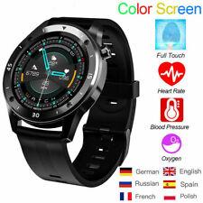 Bluetooth Smartwatch Armband Pulsuhr Blutdruck Herren Damen Fitness