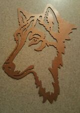 Wolf head metal plasma wall art
