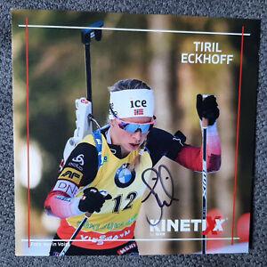 Tiril Eckhoff Biathlon Autogramme Autogrammkarte signiert