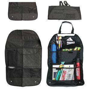 2 Packs Car Auto Back Seat Organizer Bags Assorted Bag Pocket Black