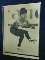 1988 Figure Skating Debi Thomas Budapest Hungary Vintage Wire Press Photo