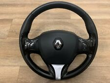 13-18 RENAULT CLIO MK4 MULTIFUNCTION LEATHER STEERING WHEEL WITH AIRBAG