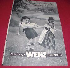 versandhaus katalog heft friedrich wenz pforzheim uhren schmuck leder   1951